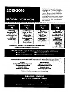 03-17-15 COMMUNITY IMPROVEMENT - PROPOSAL WORKSHOP