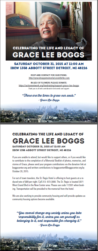 GraceLeeBoggs Memorial