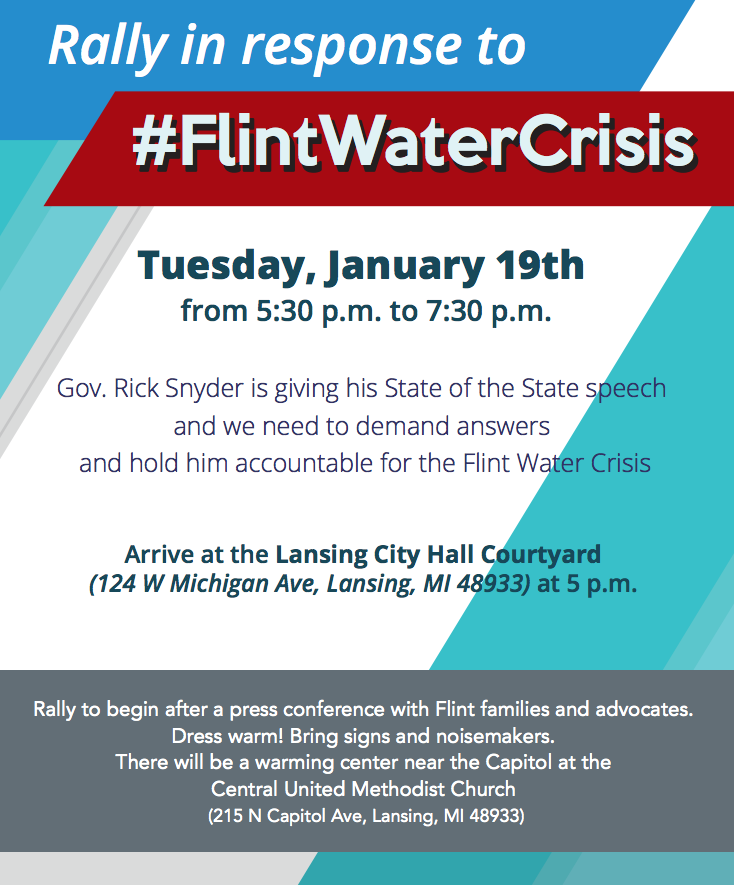 RALLY Flint water crisis