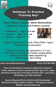 05-28-17 PWF Training Day flyer with Age Requirements