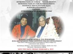 Water Forum/ Commemorative 59th,  Bus Boycott
